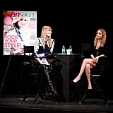 Nicole Richie chatted on stage at the Teen Vogue Fashion University event in NYC.