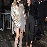 She posed alongside her sister, Kylie, who wore a black jumpsuit from the collection.