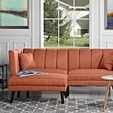 Mid-Century Modern Linen Fabric Futon Sofa Bed