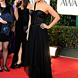 Mila Kunis wore Christian Dior to the 2012 Golden Globe Awards.