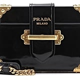 Prada Cahier Patent Leather Shoulder Bag