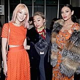 Irene Kim, Margaret Zhang and Shay Mitchell at Tory Burch