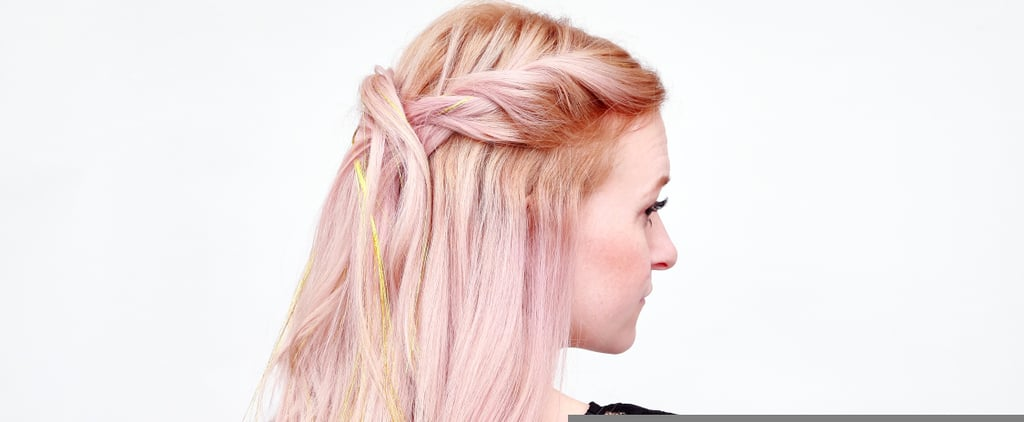 Add Festive Flair to Your Hair With This Sparkling Tinsel Rope Braid DIY