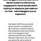 Can you be a smaller or newer influencer and make it?