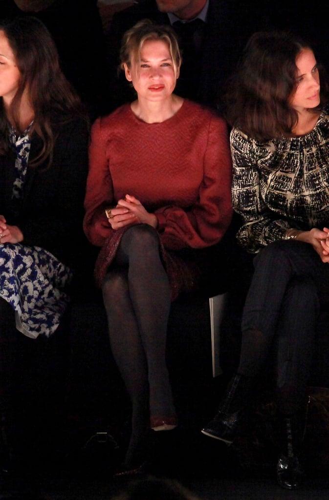 Renée Zellweger attended the Carolina Herrera show.