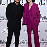 Louis Garrel and Timothée Chalamet at the Little Women Premiere