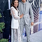 Michelle Yeoh and Henry Golding at the Last Christmas Premiere