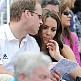 Prince William and Kate Middleton checked their Olympics program.
