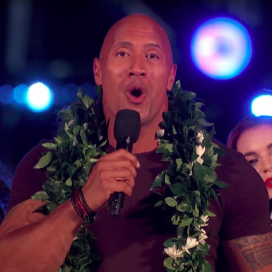 "Dwayne Johnson Sings ""I'll Be Home For Christmas"" to Troops"