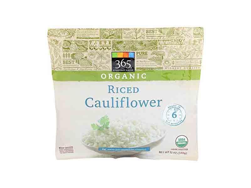 365 Everyday Value Frozen Organic Riced Cauliflower
