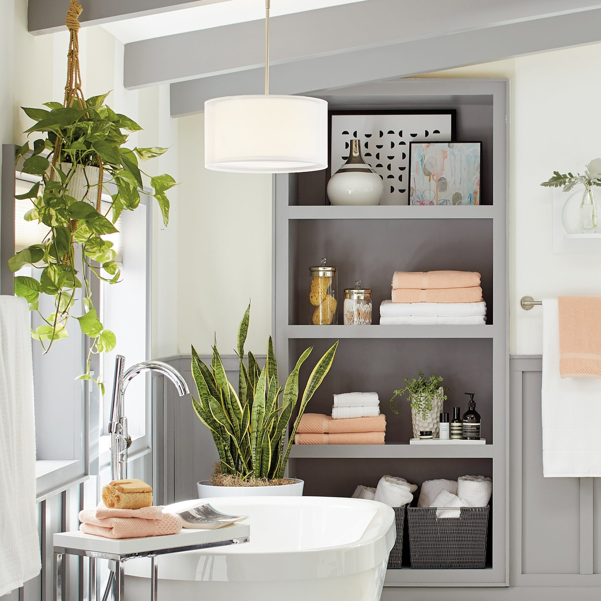 Bathroom Decor Inspiration 2019 Popsugar Smart Living,Black And White Wallpaper Anime Hd
