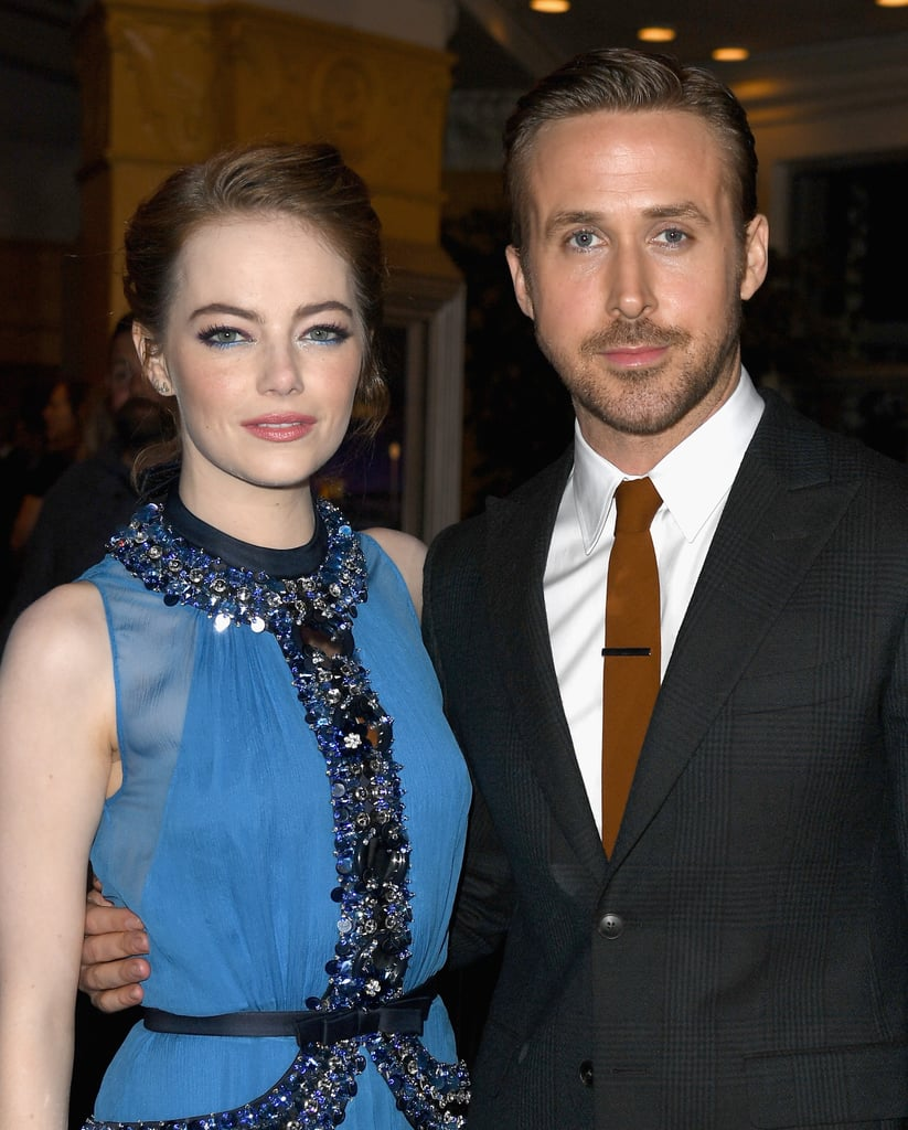 Ryan Gosling and Emma Stone officially kicked off their press tour for La La Land when they stepped out for the film's premiere in LA on Tuesday evening. While they walked the red carpet separately — Emma stunned in a gorgeous blue dress and Ryan looked handsome in a suit and tie — the stars met up inside and posed for photos together. In the movie, which opens in a limited release on Dec. 9 then wide on Dec. 16, Emma plays an aspiring actress who works as a barista on the Warner Bros. lot opposite Ryan's Sebastian, a jazz pianist who has big dreams of opening his own club someday. Check out the trailer now!       Related:                                                                                                           La La Land Is the Most Romantic Movie of the Year — and Also, of Many Years