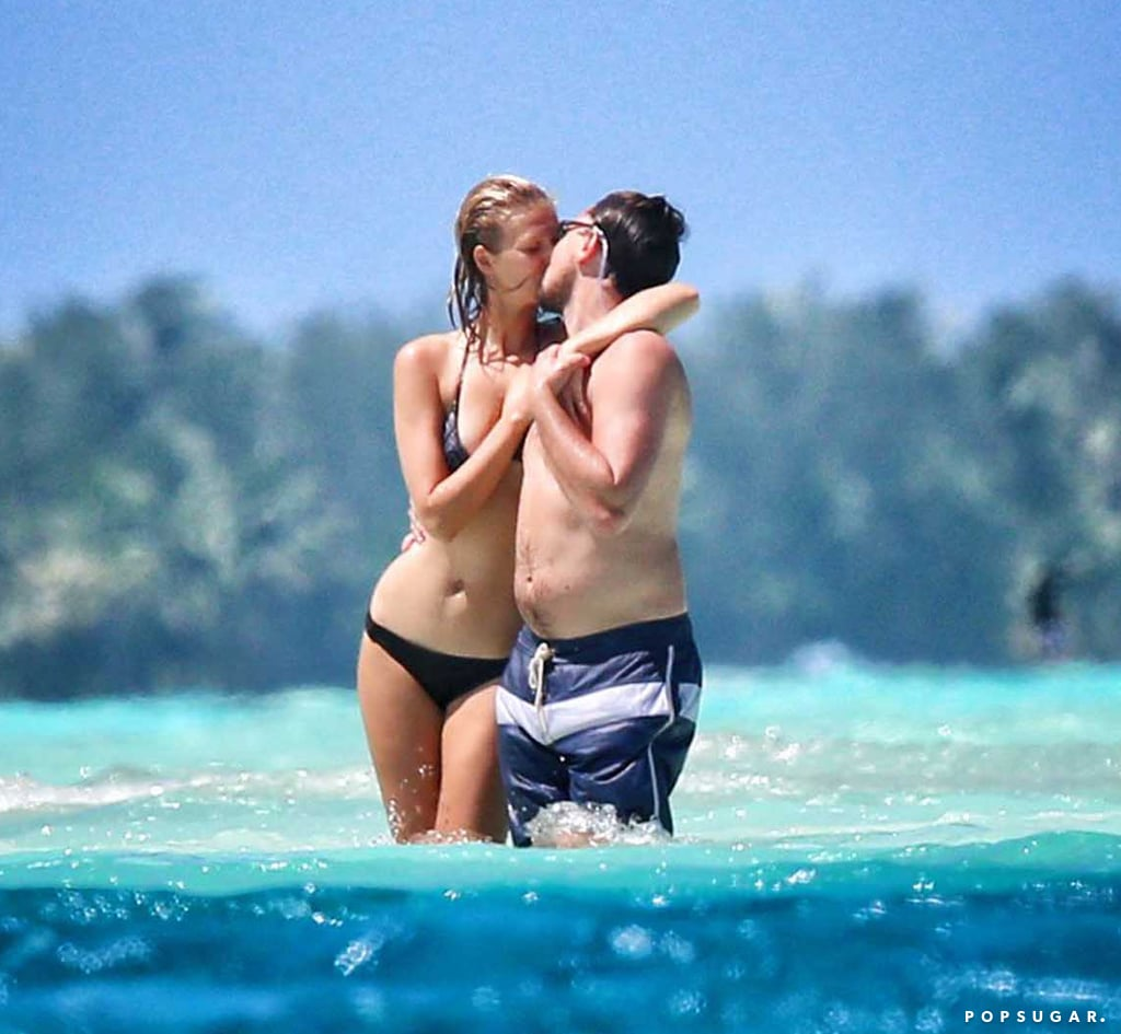 Leonardo DiCaprio and his girlfriend, Toni Garrn, escaped to Bora Bora for a couple's getaway last week. The duo embraced in the crystal-clear waters and soaked up the sun on a private beach, where Toni sunbathed topless. The romantic getaway came just before their trip to Coachella Valley, CA, where Leo and Toni checked out the shows, partied with friends, and Leo let loose dancing to MGMT. He wasn't the only celebrity at the music festival, since Robert Pattinson, Julianne Hough, Beyoncé, and others descended on the desert for the annual event as well. Leo's been enjoying a bit of a break since award season wrapped up last month, but he'll be back to work soon, since it was announced that he's starring in the thriller The Revenant later this year.