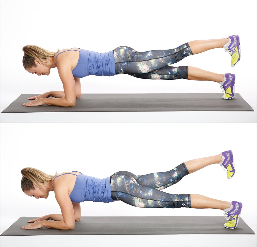 Circuit One: Elbow Plank With Leg Lift