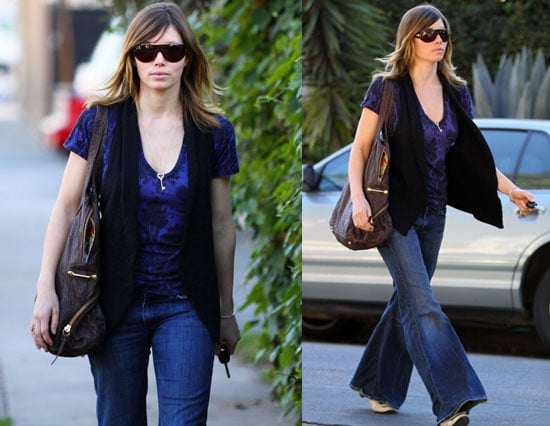 Jessica Biel Looks Fit Even Without Her Workout Gear