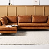 Edlyn Leather Chaise Sectional