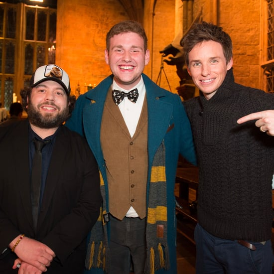 Eddie Redmayne Surprises Fans at Warner Bros. Studio Tour