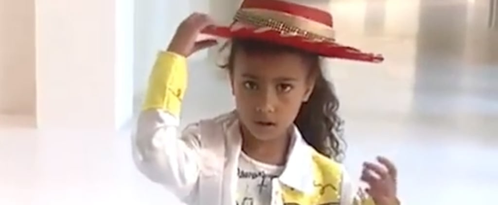 Kim Kardashian and North West Old Town Road Instagram Video