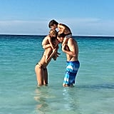 Gisele Bündchen posted this adorable family shot for husband Tom Brady's birthday.