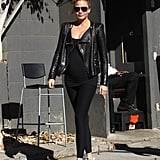 Chrissy's low-key look featured one seriously chic accessory: a pair of Yeezys.