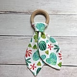 Cactus Fabric and Wooden Teether