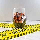 Let's Get Sheet Faced Halloween Wine Glass