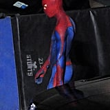 See Andrew Garfield in His Extremely Tight Spider-Man Costume!