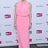 Jessica Chastain wore a pink Balenciaga dress to the 2012 Critics' Choice Movie Awards.