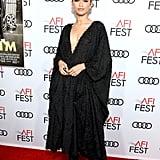 Zendaya Wears Fuzzy Dress and Boots to Queen & Slim Premiere