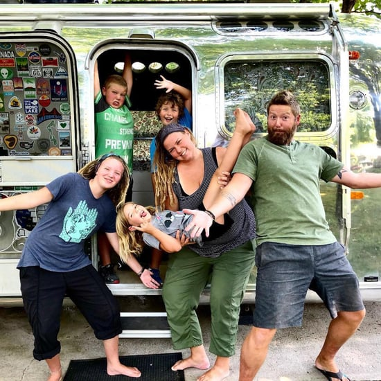 Family of Six Lives in Airstream Trailer
