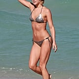 Julianne Hough showed off her bikini body during a getaway in Miami with pal Nina Dobrev.
