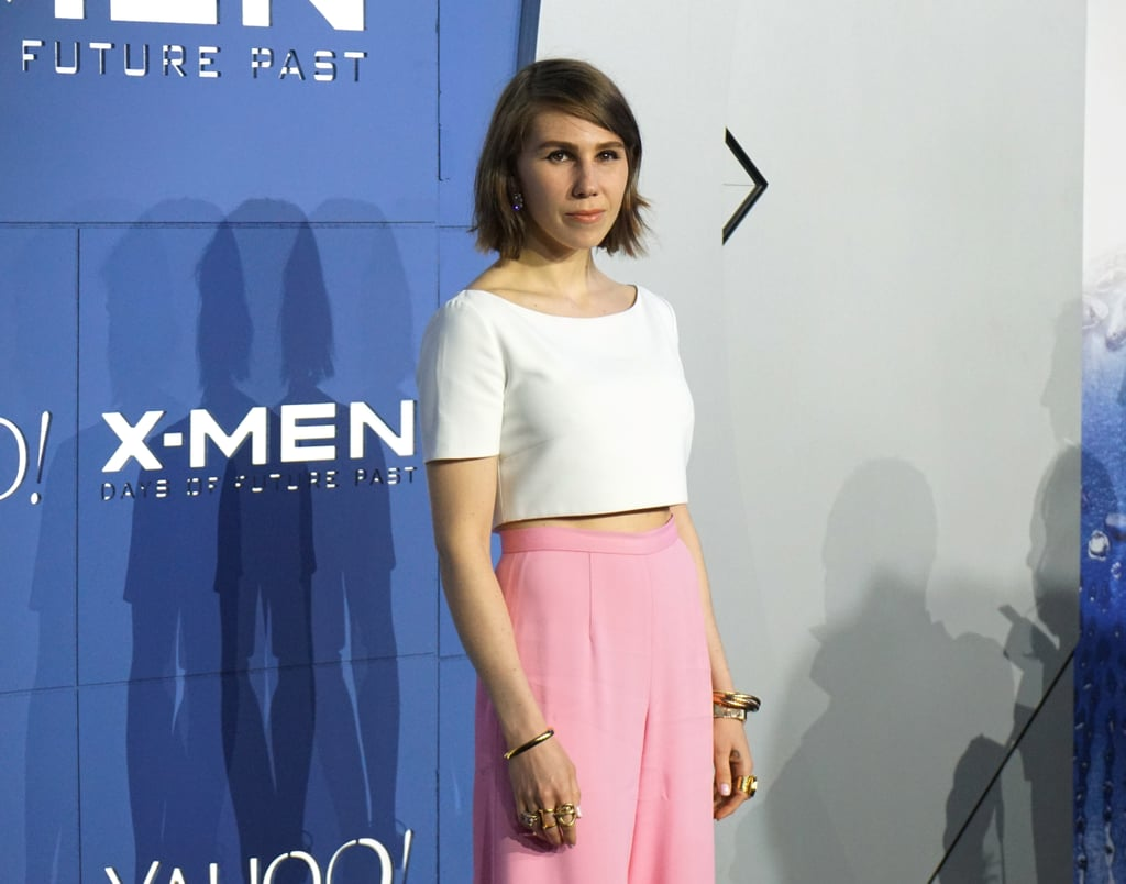 Zosia Mamet stepped out in white and pink.