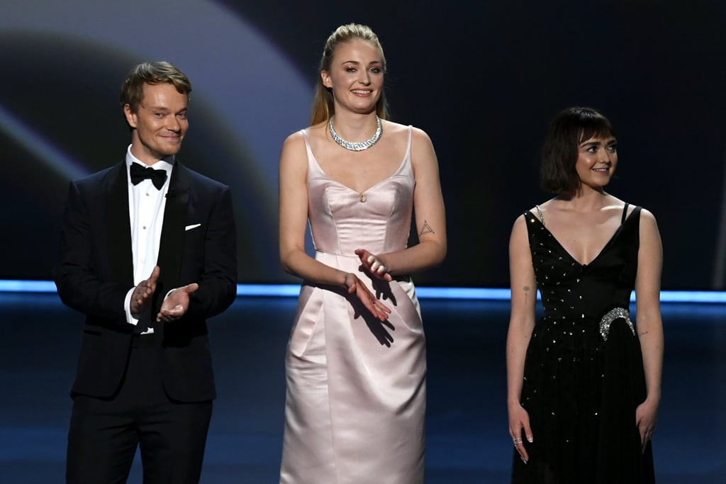Alfie Allen, Sophie Turner, and Maisie Williams at the 2019 Emmys