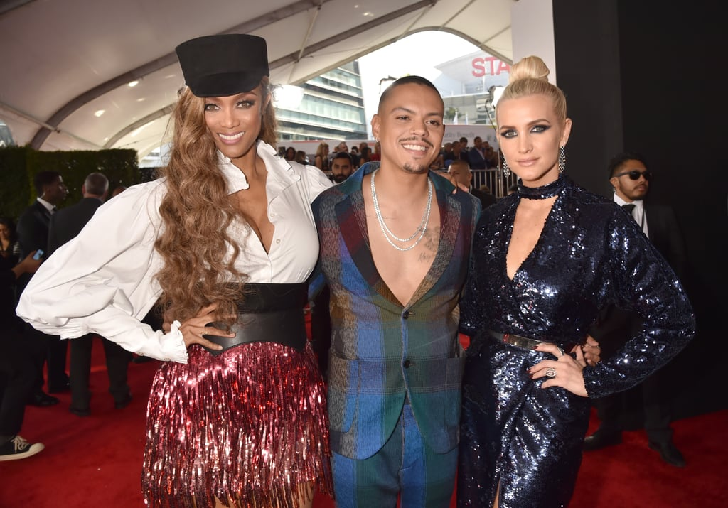 Pictured: Tyra Banks, Evan Ross, and Ashlee Simpson