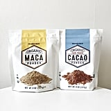 Organic Cacao Powder ($4) and Organic Maca Powder ($5)