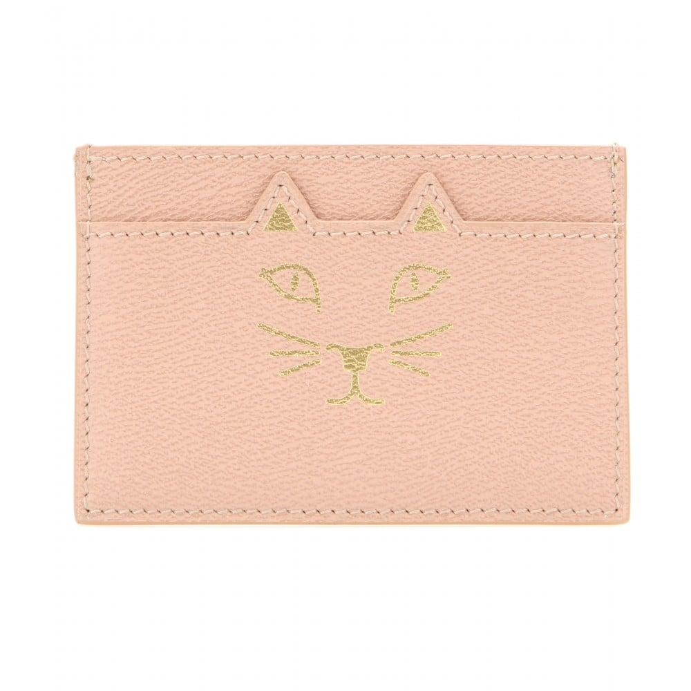 Charlotte Olympia Feline Leather Card Holder ($191)