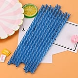 Colourful Reusable Hard Plastic Stripe Drinking Straws