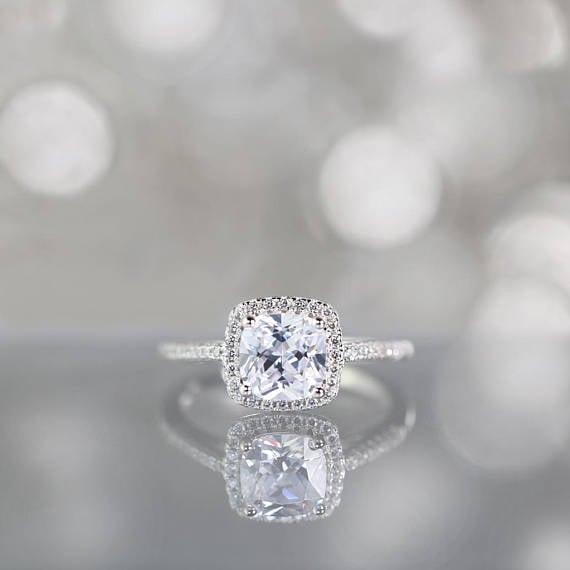 Etsy TroveCompany Halo Engagement Ring
