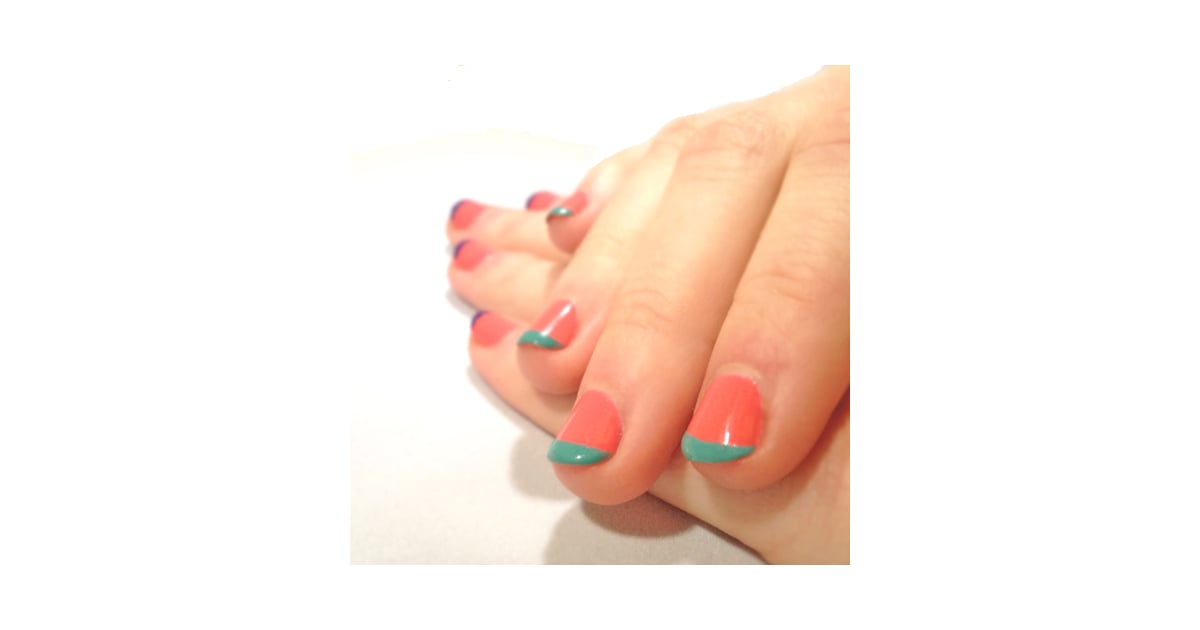 How to Do a French Manicure With Color | POPSUGAR Beauty