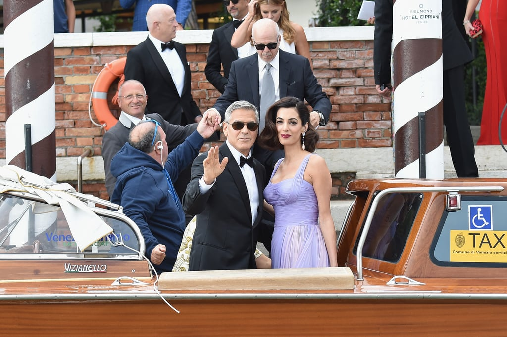 Amal Clooney Purple Dress Venice Film Festival