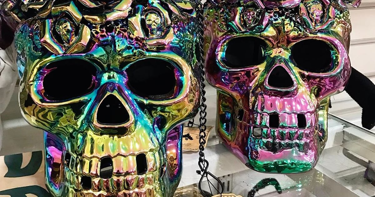 These Iridescent Halloween Skulls Have Left HomeGoods Shoppers Positively Spellbound