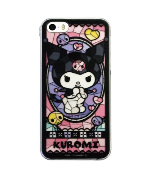 Kuromi Stained Glass iPhone Case