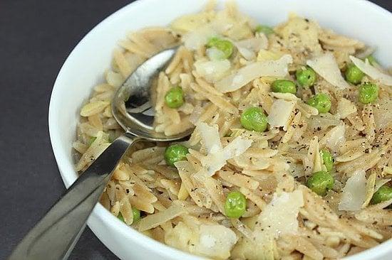 Artichokes and Peas: Whole Wheat Orzo With Artichokes and Peas