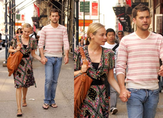 Joshua Jackson and Diane Kruger in New York as Shutter is Released in the UK