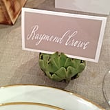 Artichokes as place card holders. Love. Spotted at the White Label wedding preview.