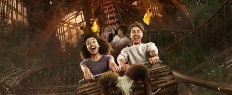 Alton Towers Wicker Man Ride Reactions