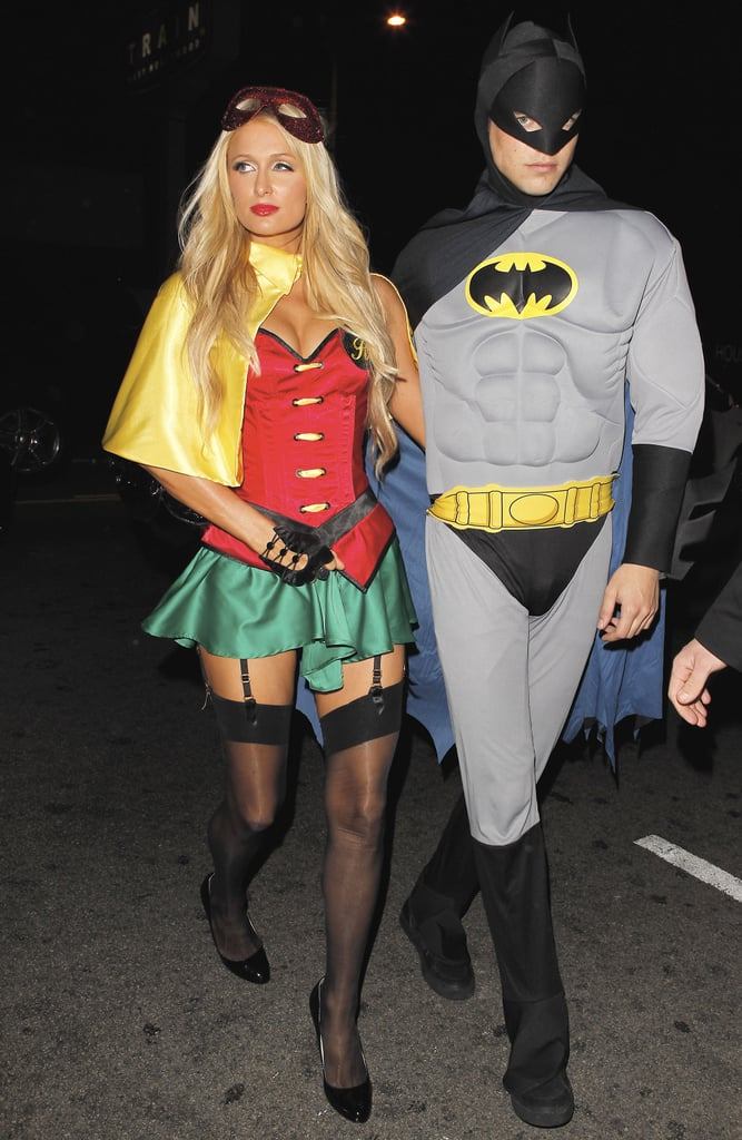 Paris Hilton and her boyfriend attended Rihanna's LA party in costume.