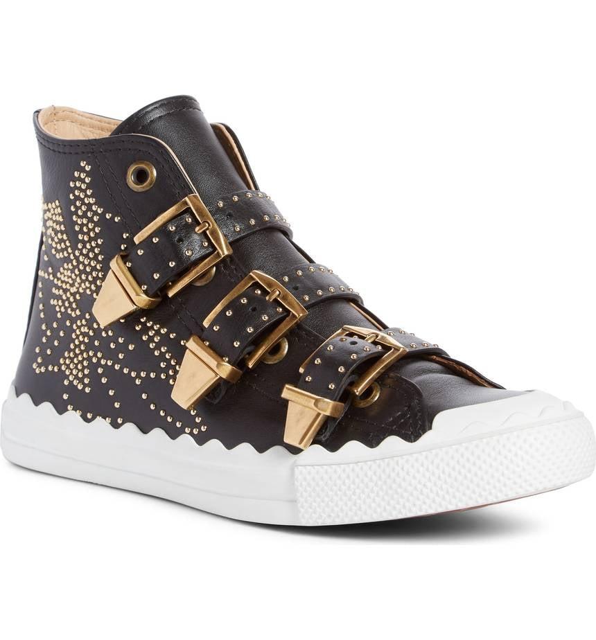 8fee2934ff Chloe Kyle Stud Buckle High Top Sneakers