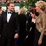 Leonardo DiCaprio Chatted With Emma Thompson.