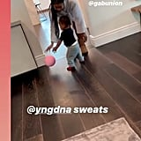 Video of Dwyane Wade Playing Basketball With Daughter Kaavia